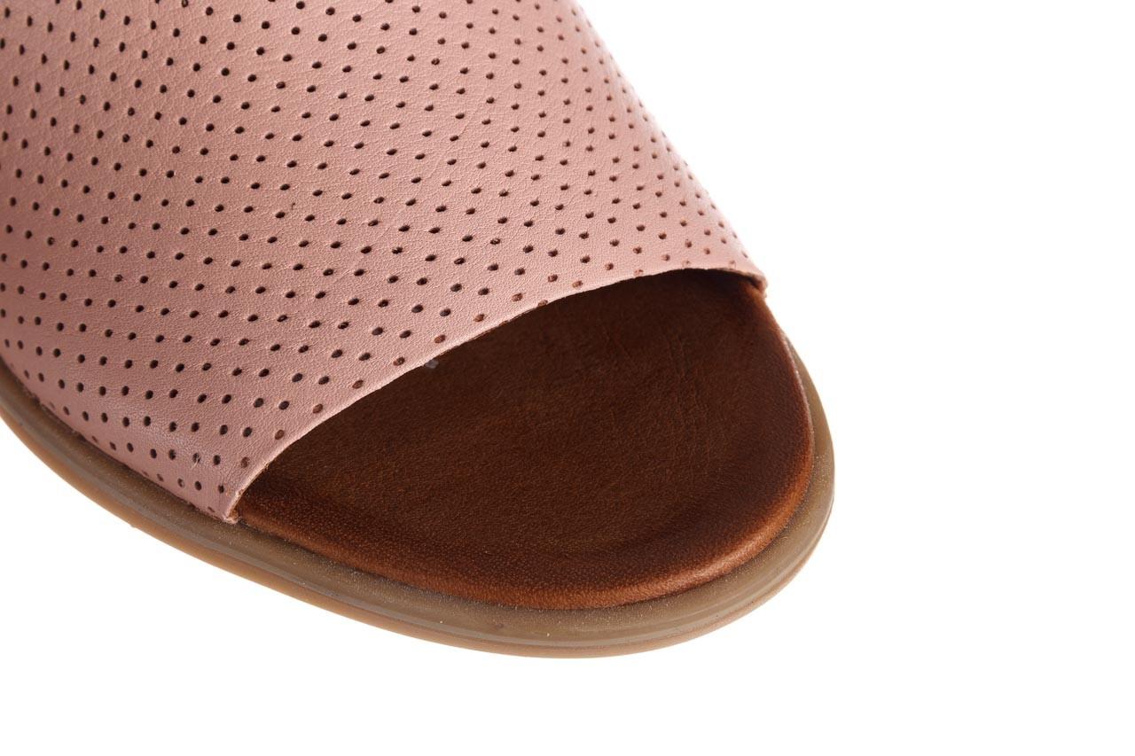 Klapki bayla-161 061 1609 cameo 21 161203, róż, skóra naturalna  - klapki - buty damskie - kobieta 13