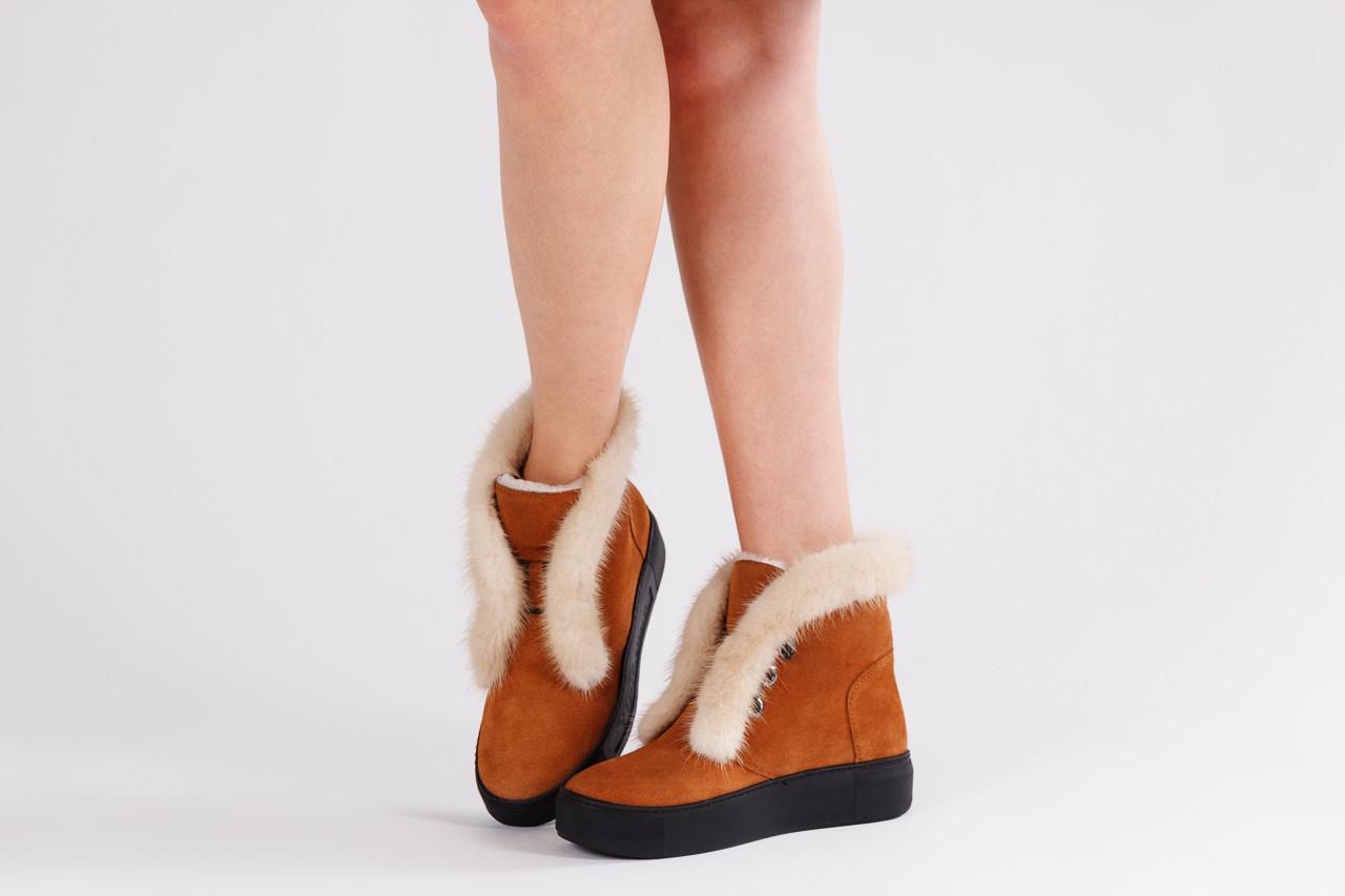 Śniegowce bayla 161 017 2032 105 tan suede 161162, brąz, skóra naturalna  - śniegowce - śniegowce i kalosze - buty damskie - kobieta 13