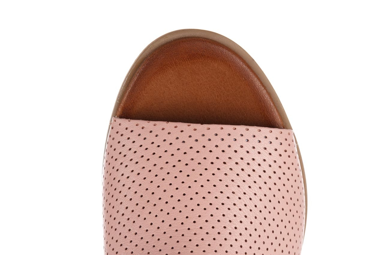 Klapki bayla-161 061 1609 cameo 21 161203, róż, skóra naturalna  - klapki - buty damskie - kobieta 14