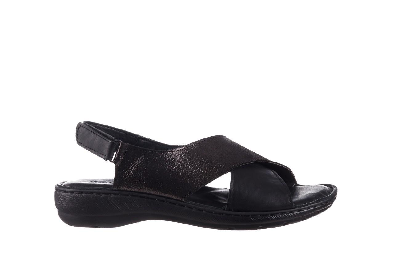 Sandały bayla-161 016 740 black black print, czarny, skóra naturalna - płaskie - sandały - buty damskie - kobieta 8