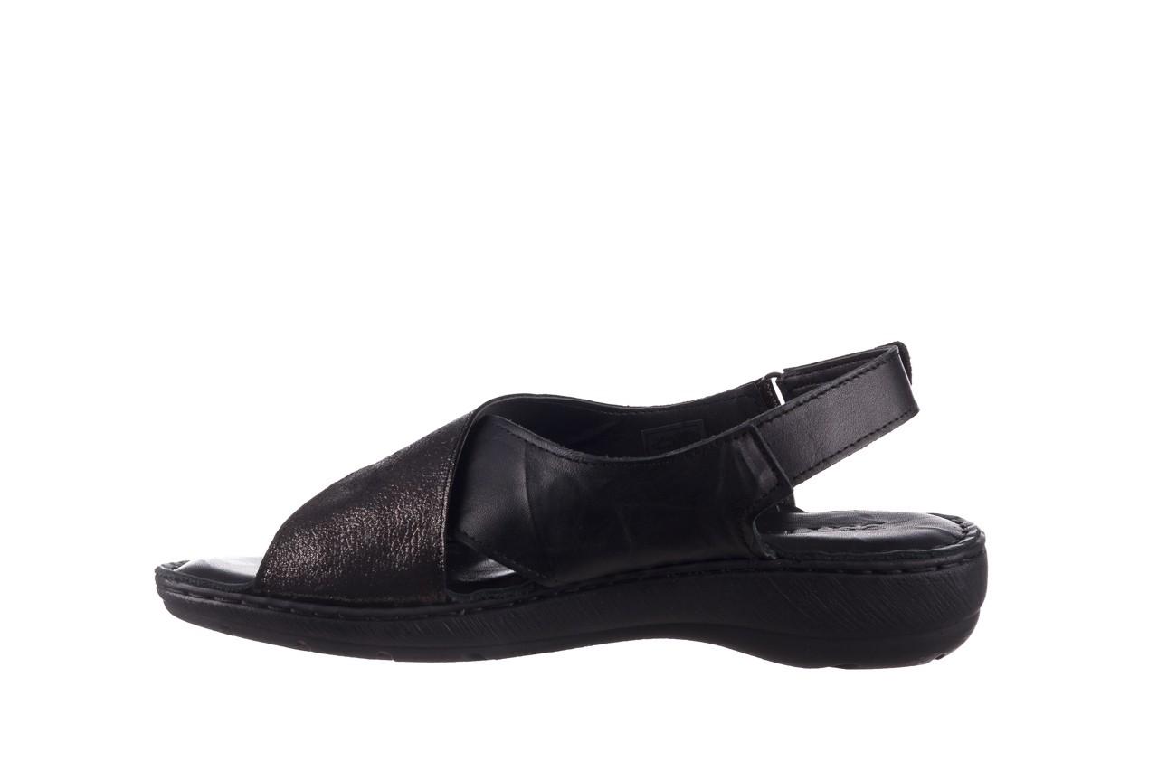 Sandały bayla-161 016 740 black black print, czarny, skóra naturalna - płaskie - sandały - buty damskie - kobieta 10