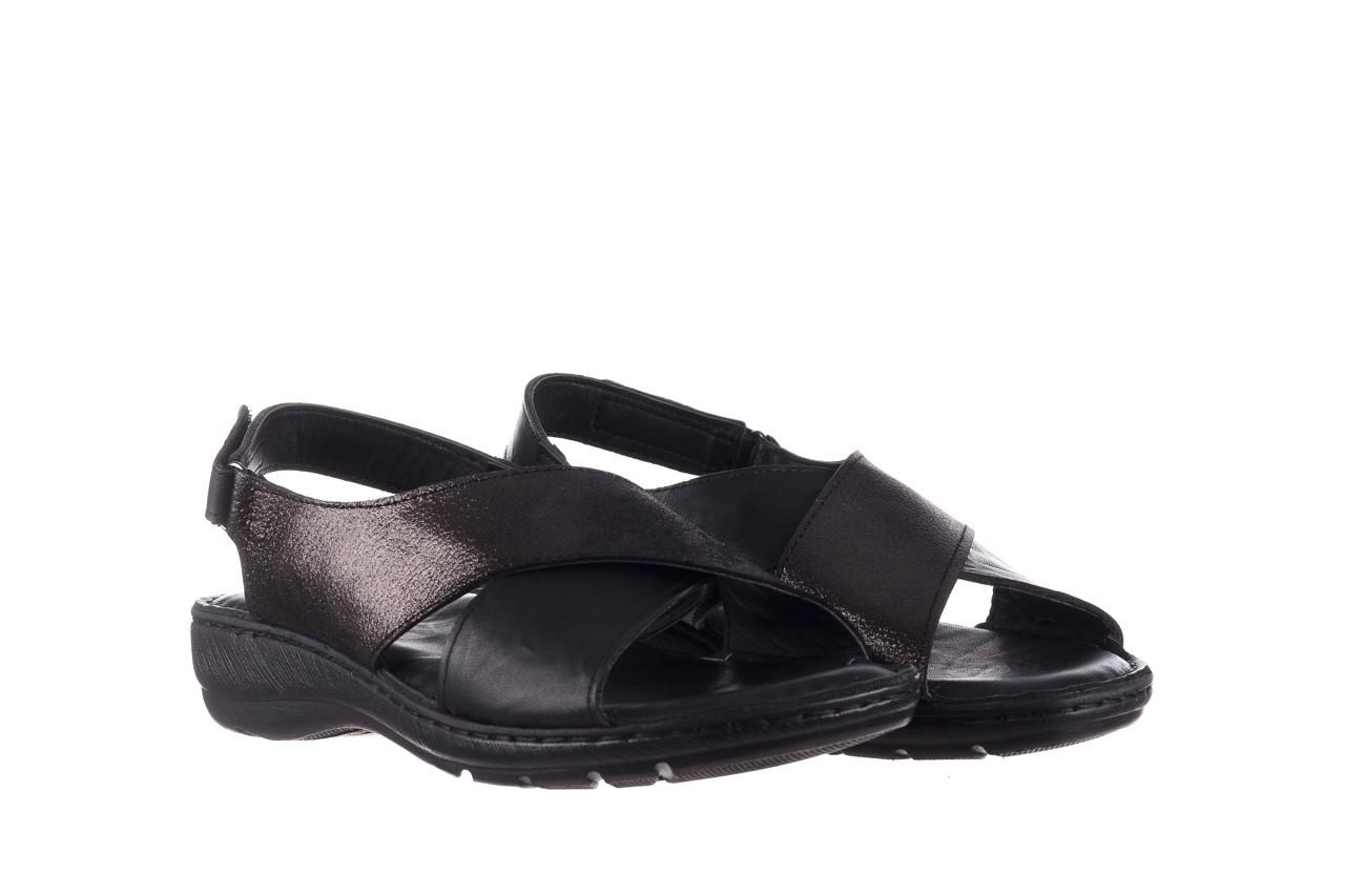 Sandały bayla-161 016 740 black black print, czarny, skóra naturalna - płaskie - sandały - buty damskie - kobieta 9