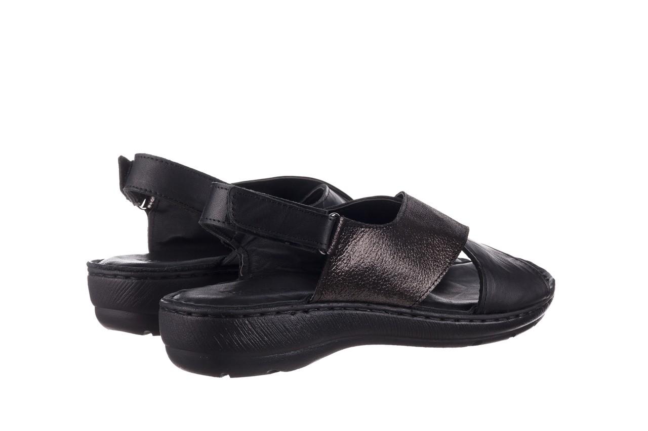 Sandały bayla-161 016 740 black black print, czarny, skóra naturalna - płaskie - sandały - buty damskie - kobieta 11