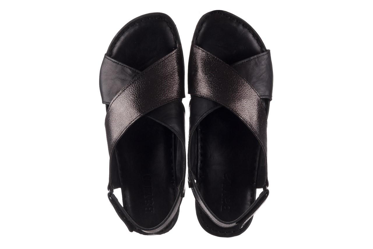 Sandały bayla-161 016 740 black black print, czarny, skóra naturalna - płaskie - sandały - buty damskie - kobieta 12