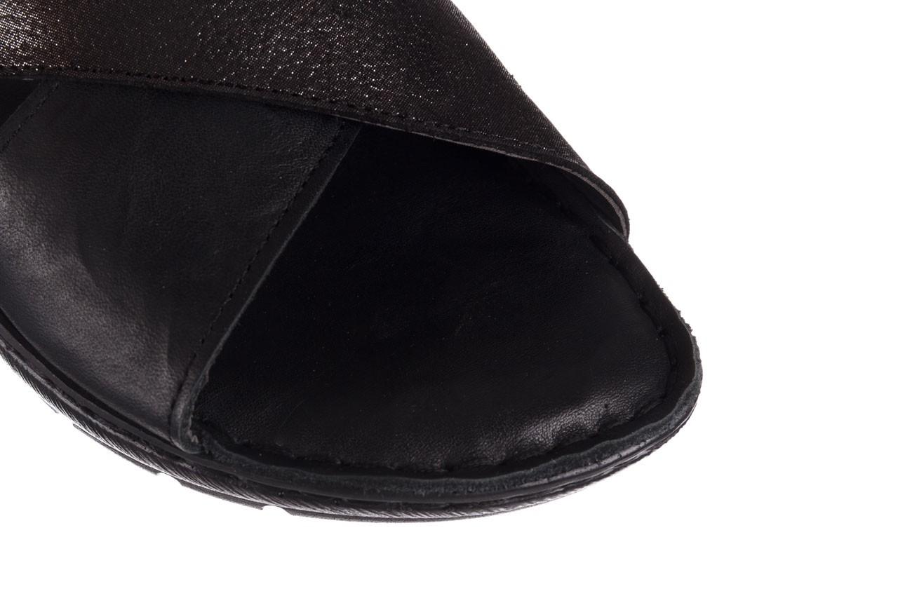 Sandały bayla-161 016 740 black black print, czarny, skóra naturalna - płaskie - sandały - buty damskie - kobieta 14