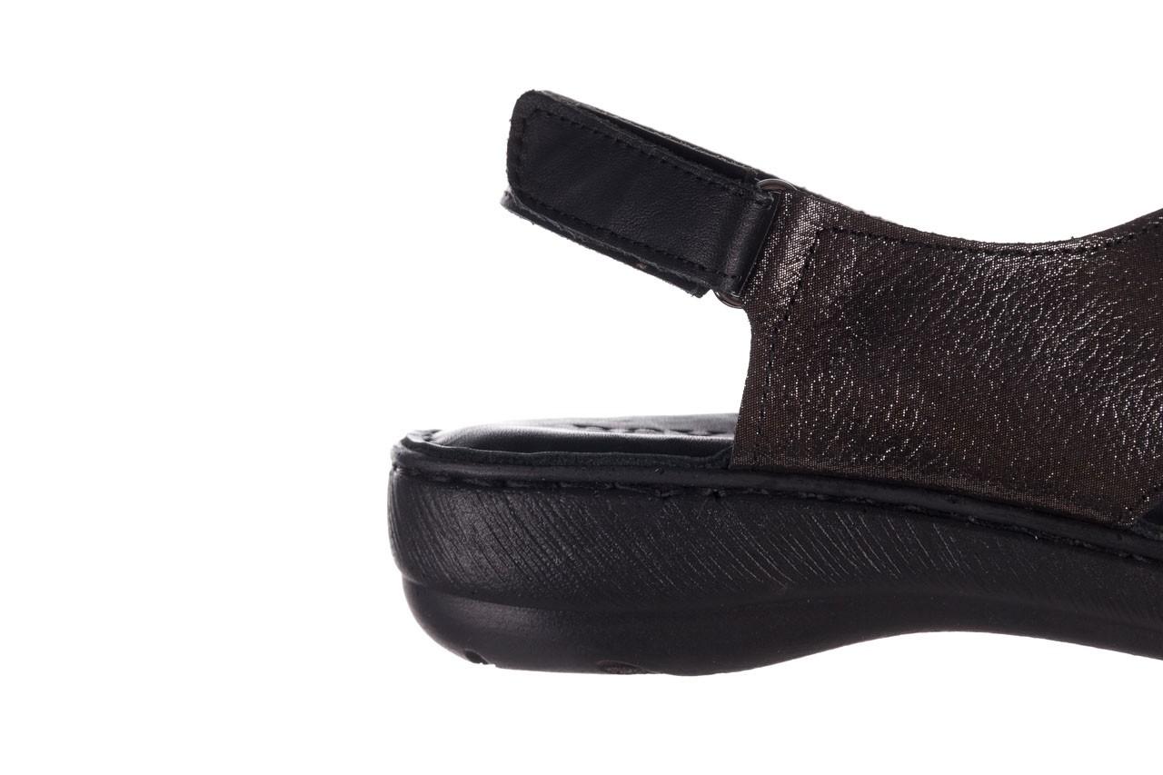 Sandały bayla-161 016 740 black black print, czarny, skóra naturalna - płaskie - sandały - buty damskie - kobieta 15