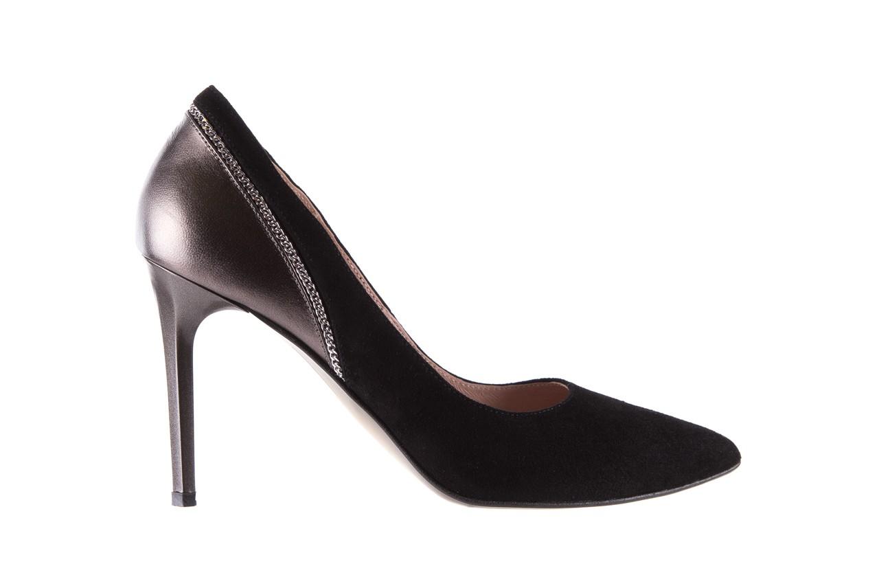 Szpilki bayla-097 17 czarne szpilki, skóra naturalna  - zamszowe - szpilki - buty damskie - kobieta 7