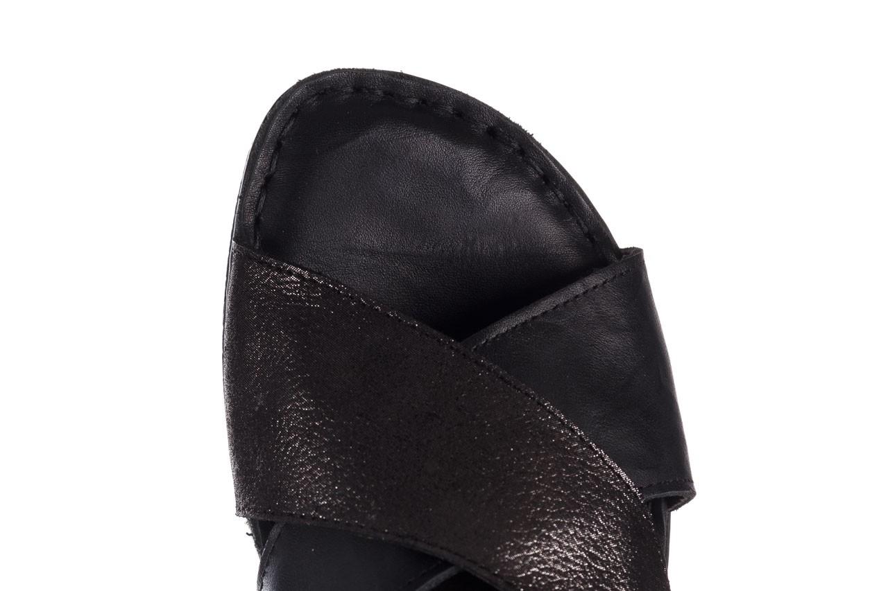 Sandały bayla-161 016 740 black black print, czarny, skóra naturalna - płaskie - sandały - buty damskie - kobieta 13