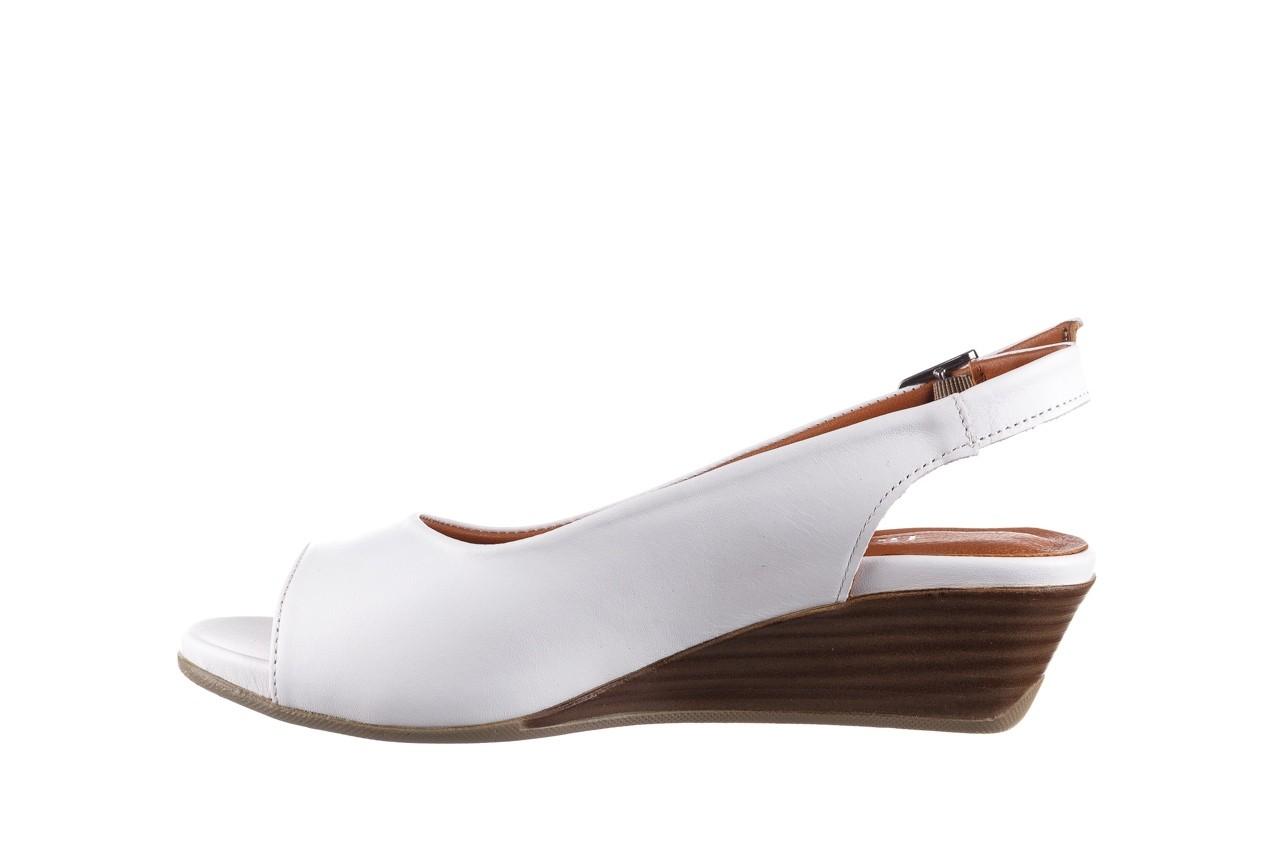 Sandały bayla-161 078 606 3 34 white, biały, skóra naturalna  - sandały - dla niej  - sale 10