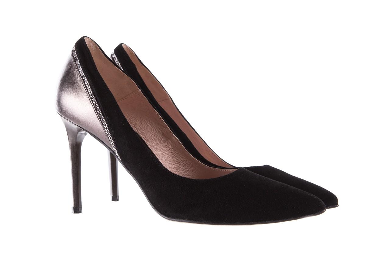 Szpilki bayla-097 17 czarne szpilki, skóra naturalna  - zamszowe - szpilki - buty damskie - kobieta 8