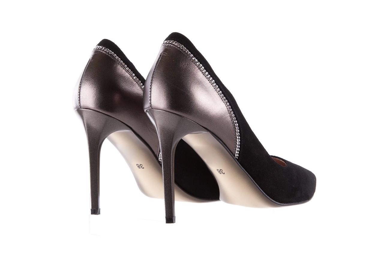 Szpilki bayla-097 17 czarne szpilki, skóra naturalna  - zamszowe - szpilki - buty damskie - kobieta 11