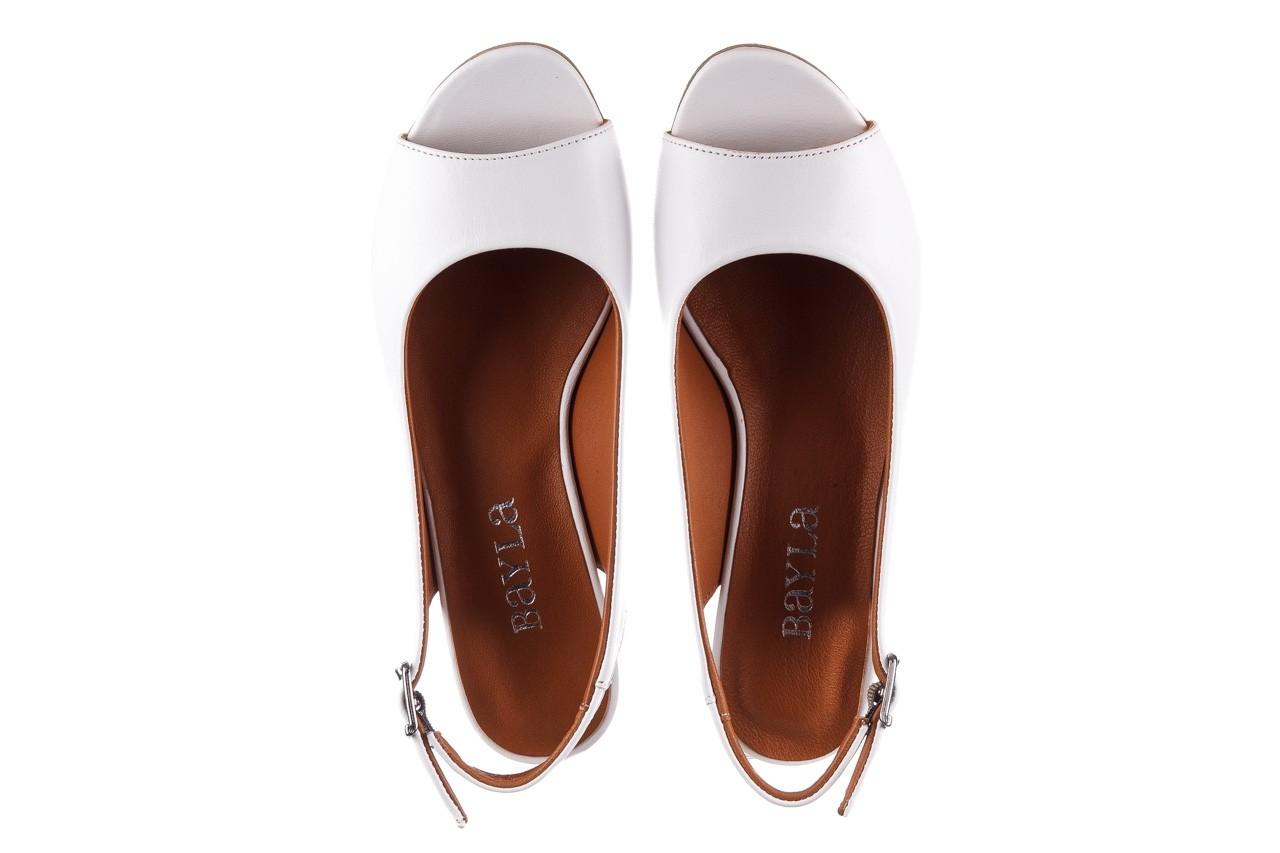 Sandały bayla-161 078 606 3 34 white, biały, skóra naturalna  - sandały - dla niej  - sale 12