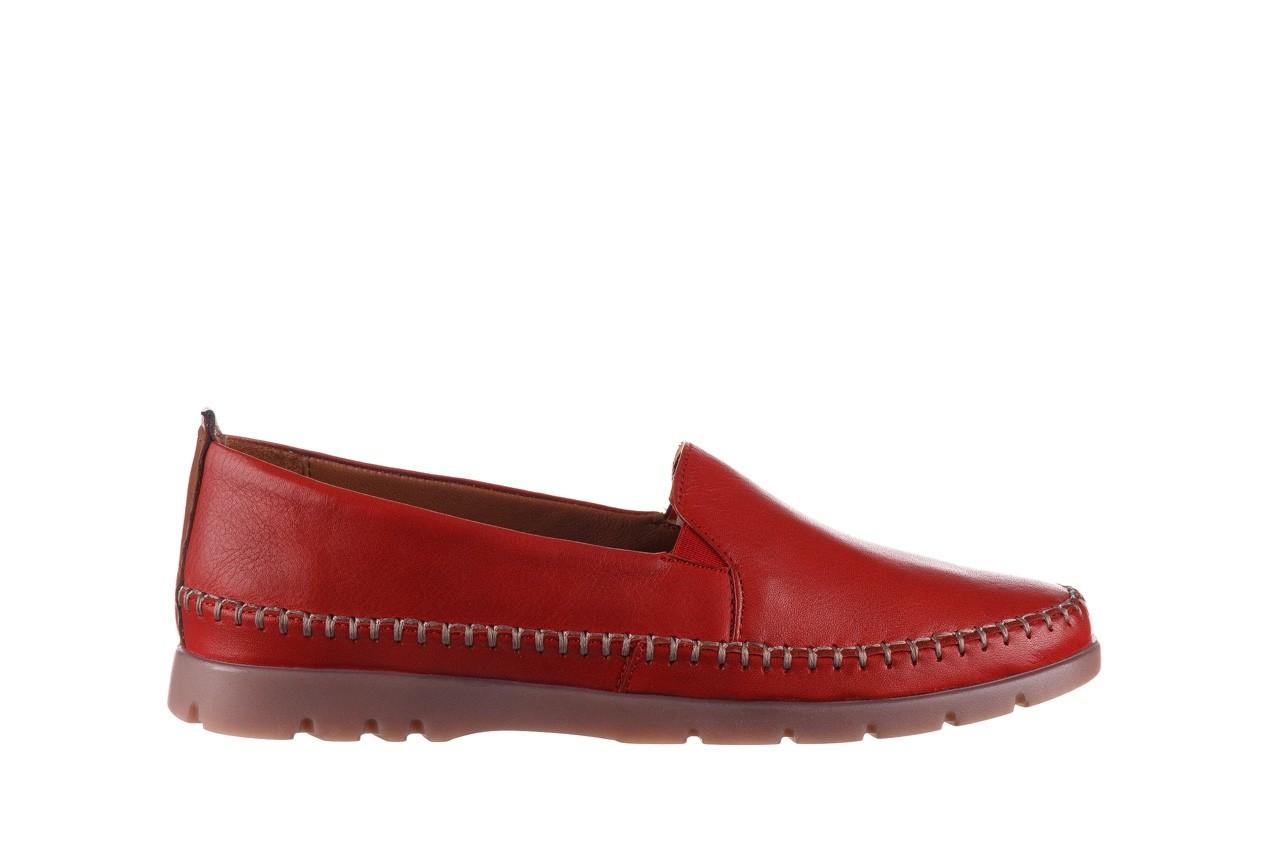 Półbuty bayla-161 078 14305 5 02 red, czerwony, skóra naturalna  - półbuty - buty damskie - kobieta 8