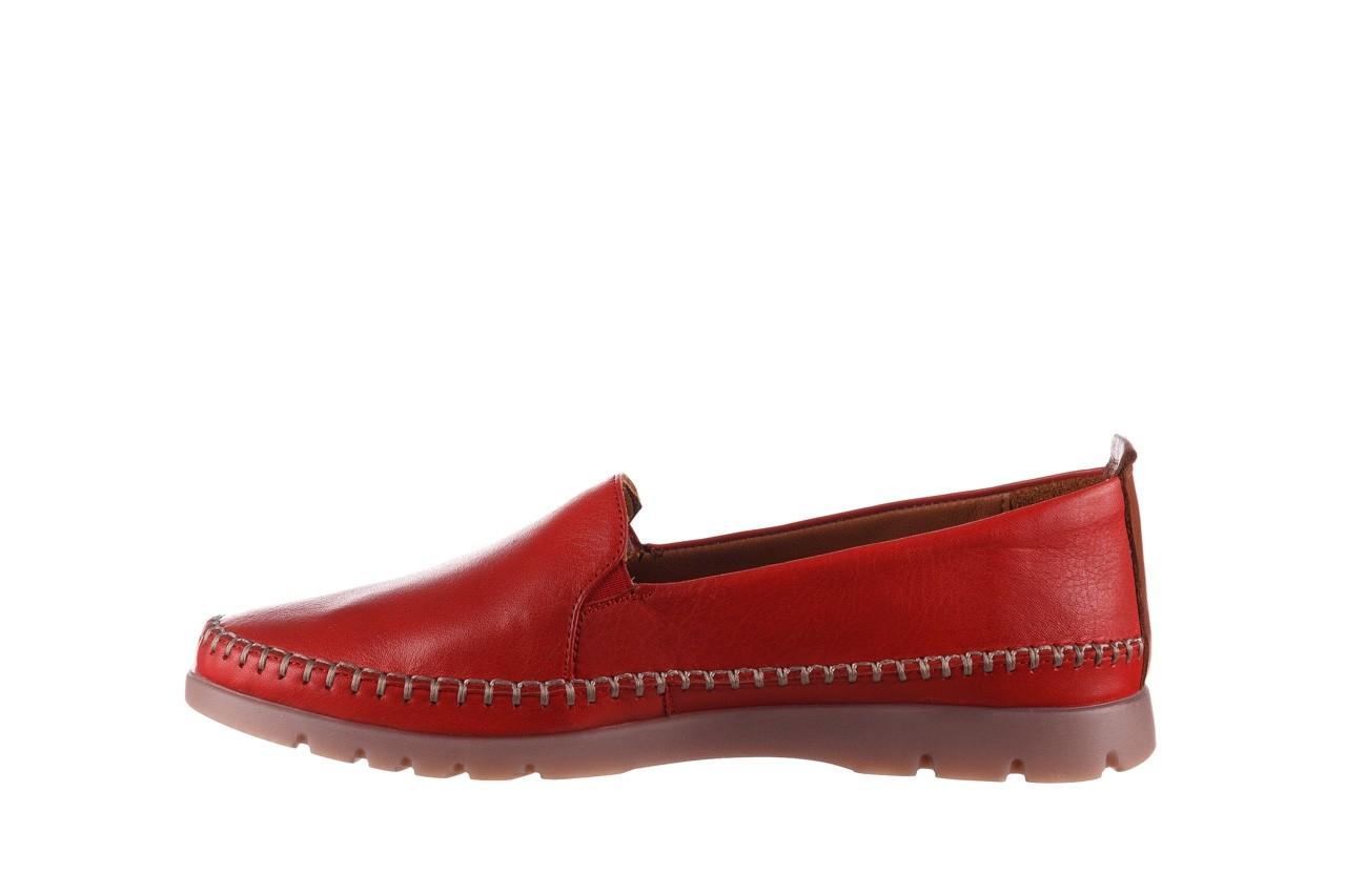 Półbuty bayla-161 078 14305 5 02 red, czerwony, skóra naturalna  - półbuty - buty damskie - kobieta 10