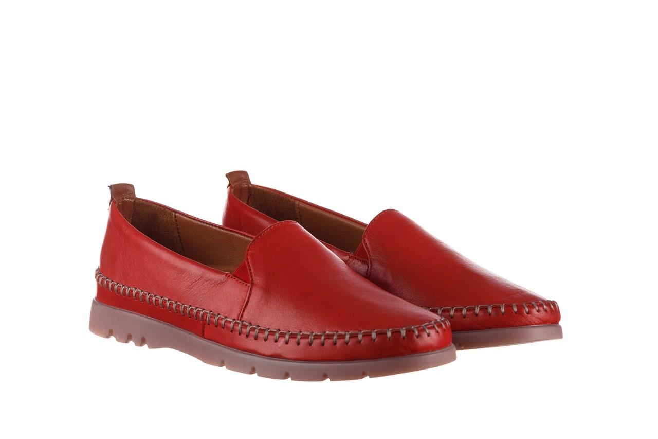 Półbuty bayla-161 078 14305 5 02 red, czerwony, skóra naturalna  - półbuty - buty damskie - kobieta 9