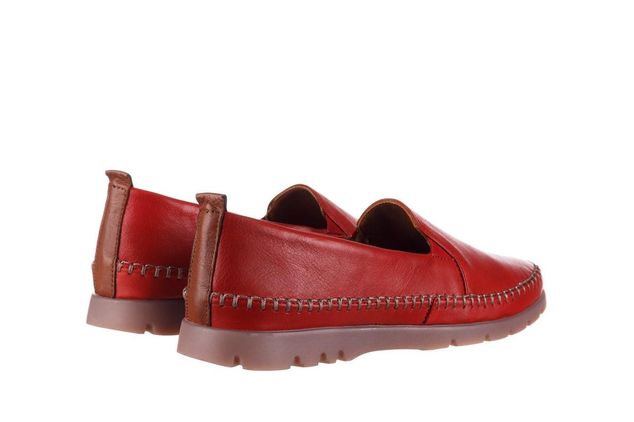 Półbuty bayla-161 078 14305 5 02 red, czerwony, skóra naturalna  - półbuty - buty damskie - kobieta 11