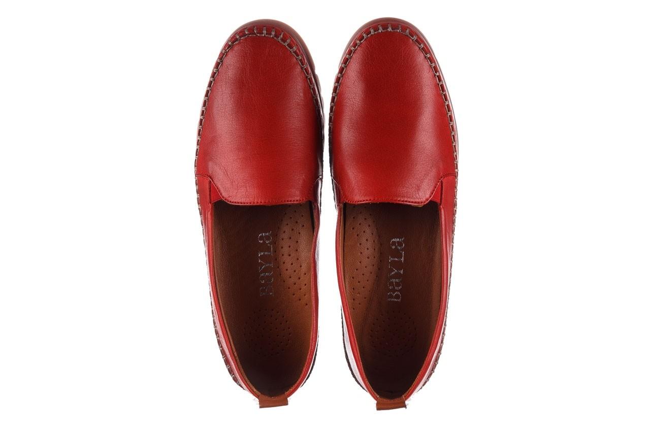 Półbuty bayla-161 078 14305 5 02 red, czerwony, skóra naturalna  - półbuty - buty damskie - kobieta 12