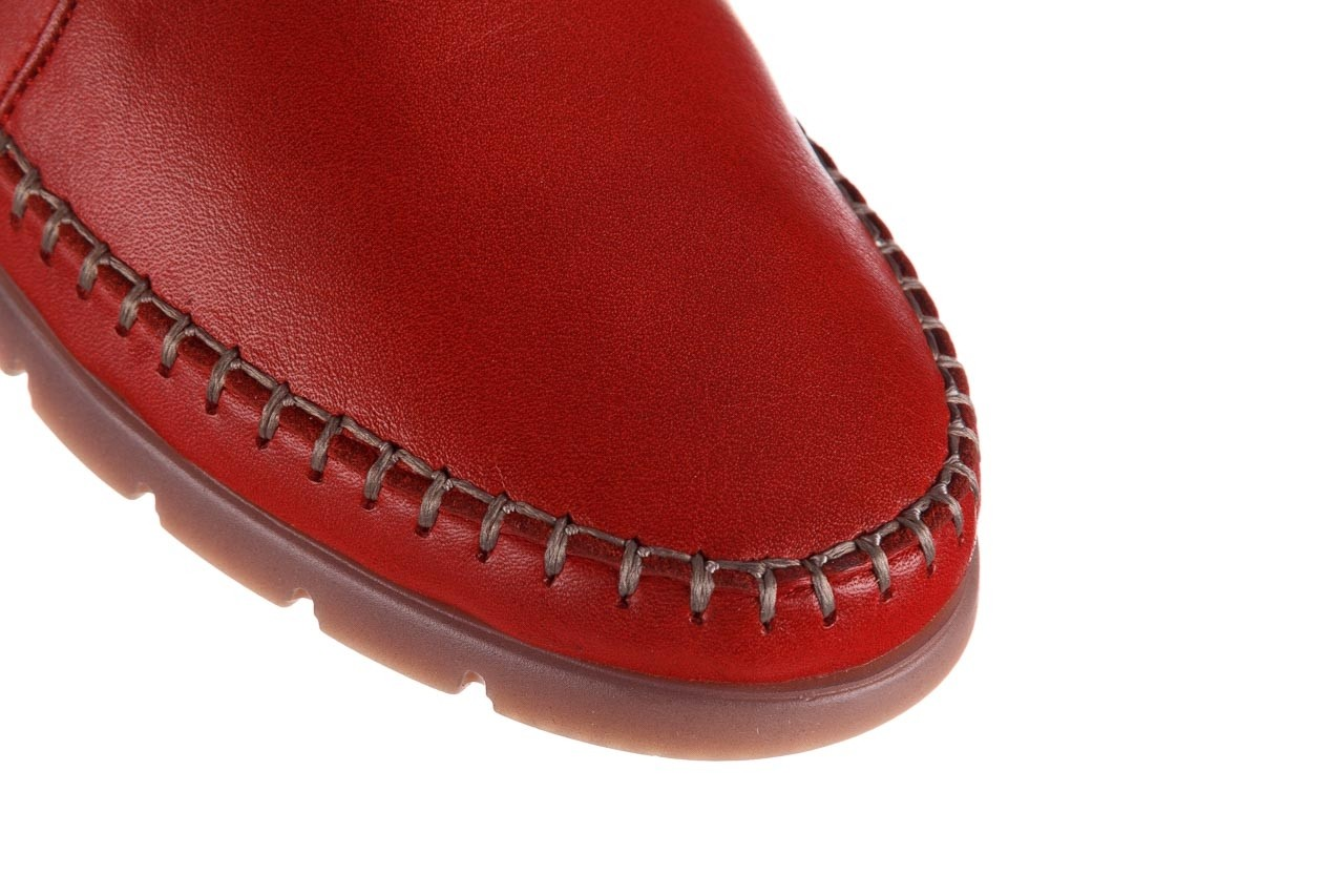 Półbuty bayla-161 078 14305 5 02 red, czerwony, skóra naturalna  - półbuty - buty damskie - kobieta 13