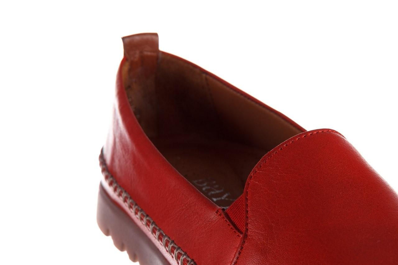 Półbuty bayla-161 078 14305 5 02 red, czerwony, skóra naturalna  - półbuty - buty damskie - kobieta 14