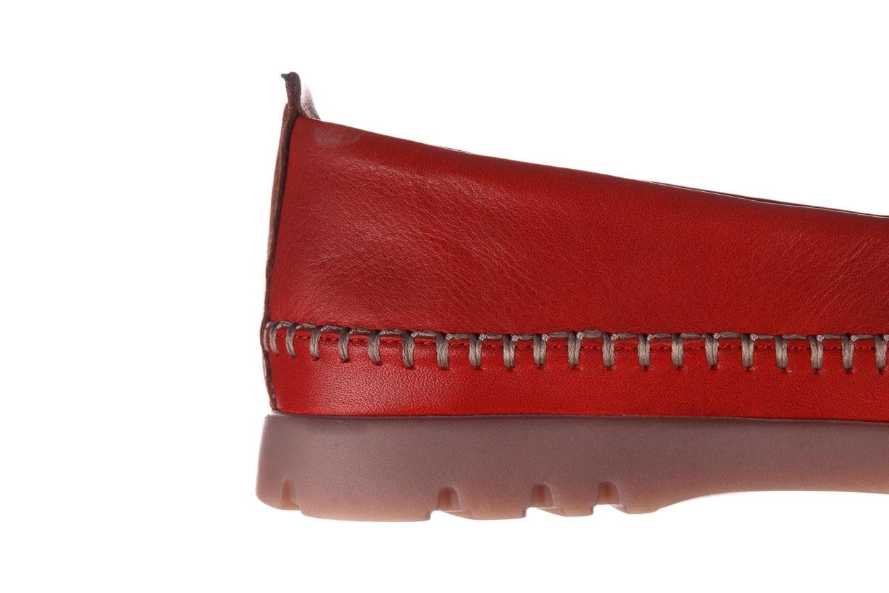 Półbuty bayla-161 078 14305 5 02 red, czerwony, skóra naturalna  - półbuty - buty damskie - kobieta 15