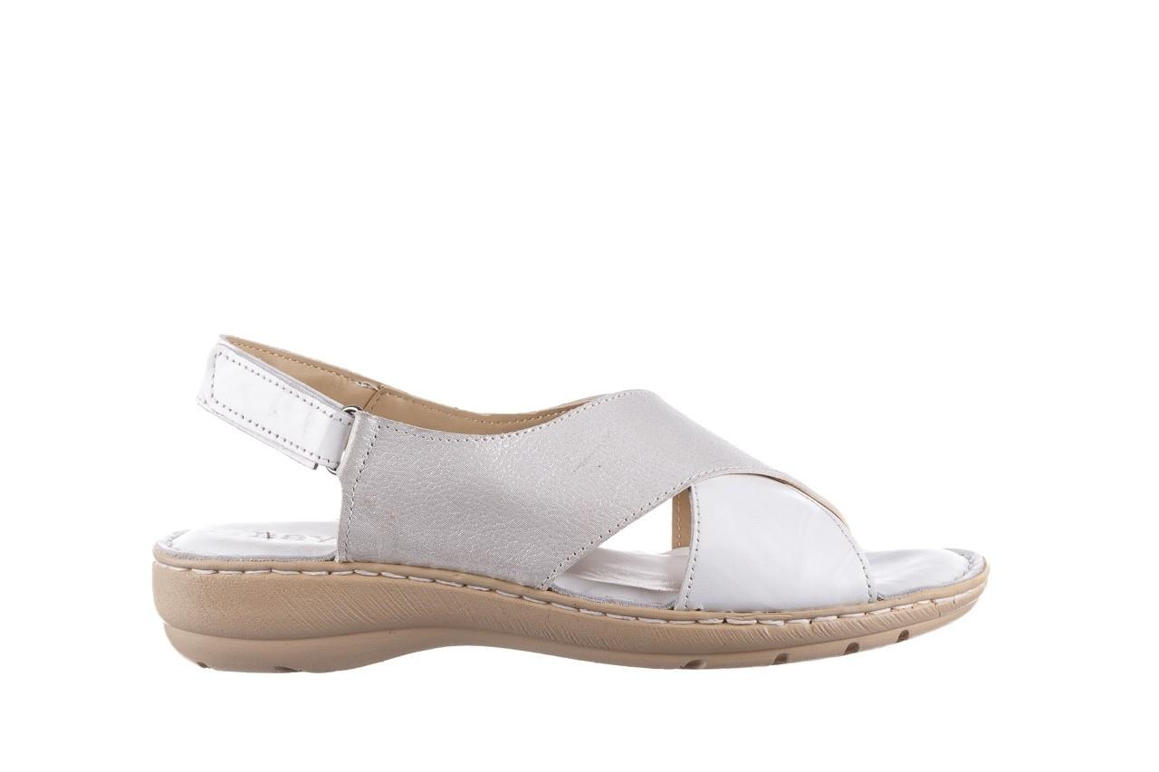 Sandały bayla-161 016 740 white print, biały, skóra naturalna - sandały - buty damskie - kobieta 8