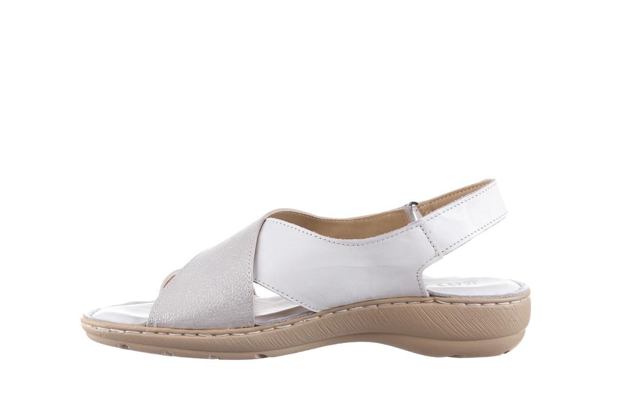 Sandały bayla-161 016 740 white print, biały, skóra naturalna - sandały - buty damskie - kobieta 10
