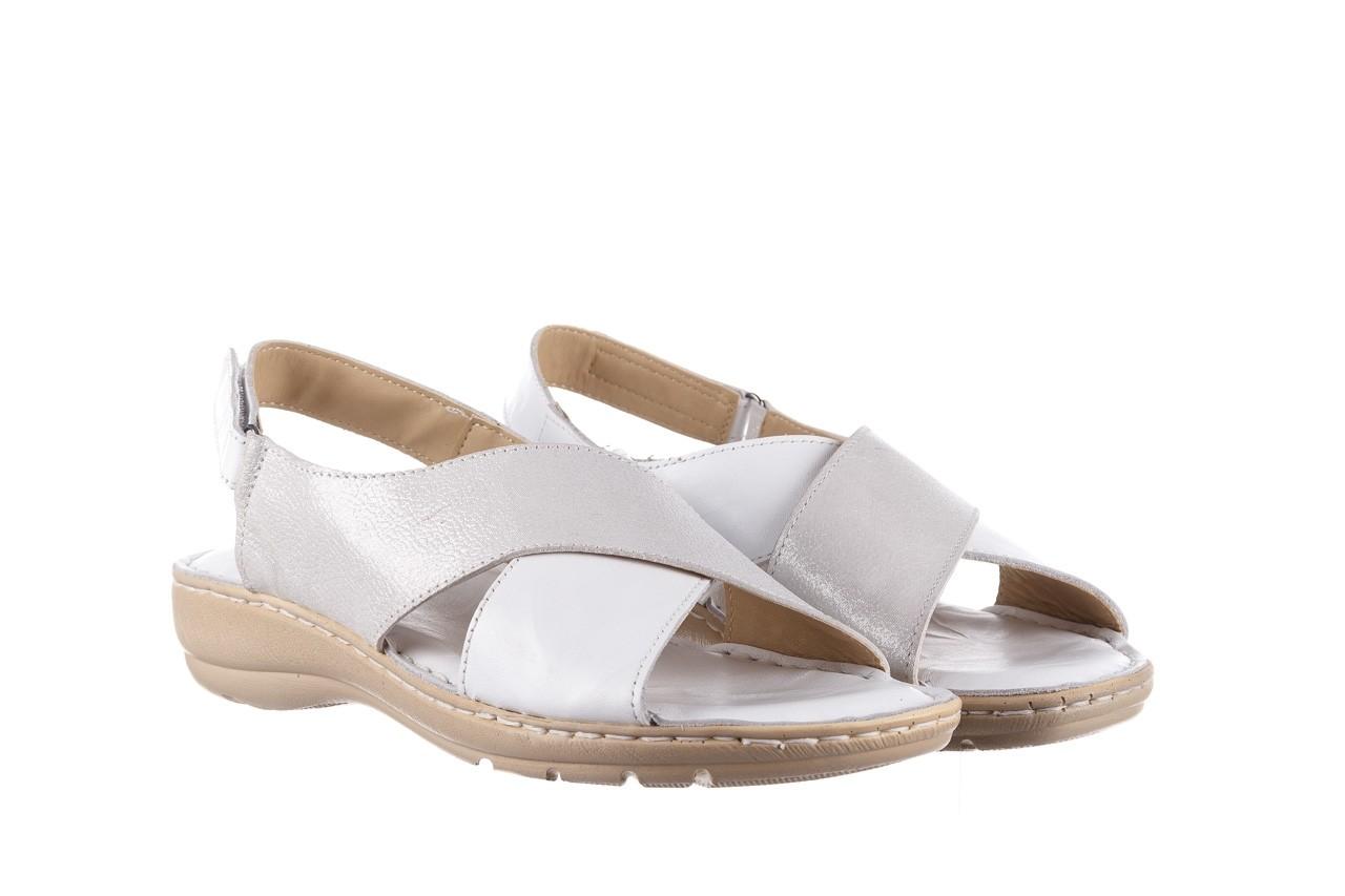 Sandały bayla-161 016 740 white print, biały, skóra naturalna - sandały - buty damskie - kobieta 9