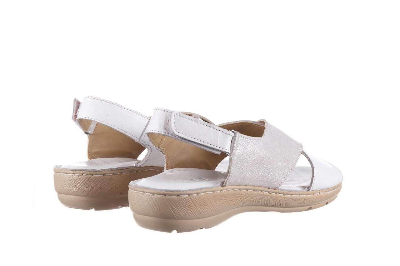 Sandały bayla-161 016 740 white print, biały, skóra naturalna - sandały - buty damskie - kobieta 11
