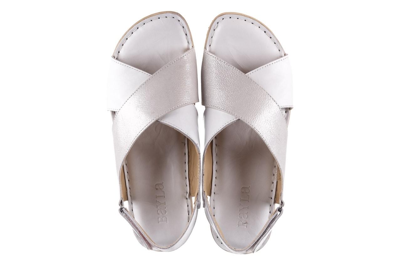 Sandały bayla-161 016 740 white print, biały, skóra naturalna - sandały - buty damskie - kobieta 12