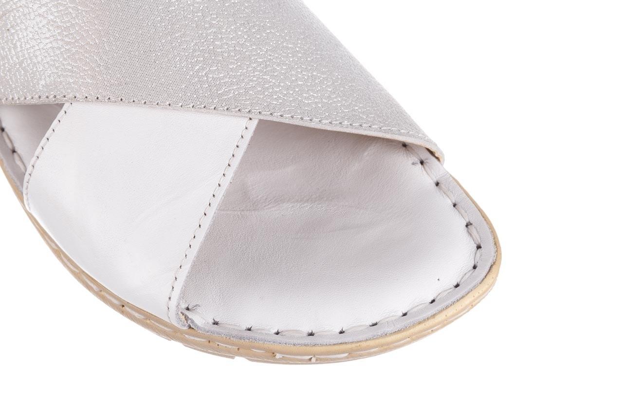 Sandały bayla-161 016 740 white print, biały, skóra naturalna - sandały - buty damskie - kobieta 14