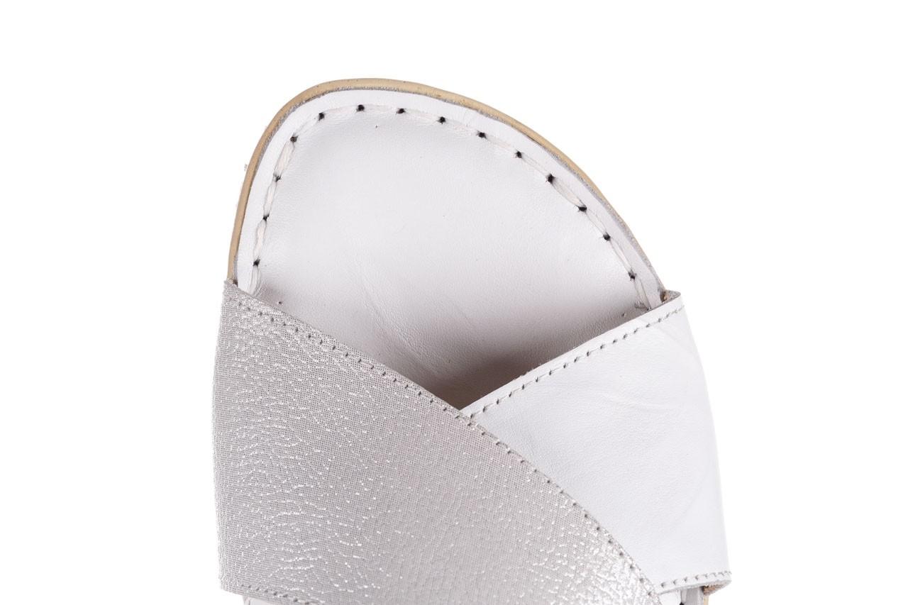 Sandały bayla-161 016 740 white print, biały, skóra naturalna - sandały - buty damskie - kobieta 13