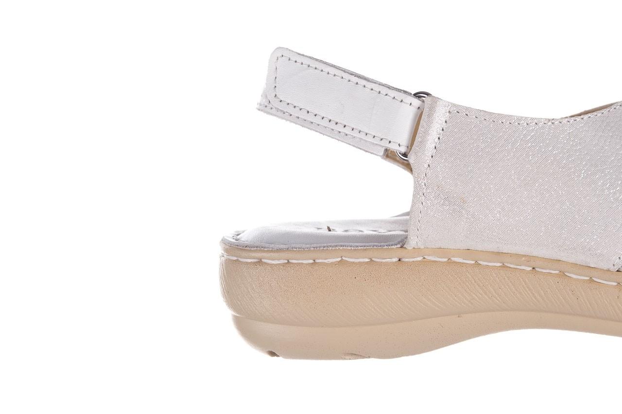 Sandały bayla-161 016 740 white print, biały, skóra naturalna - sandały - buty damskie - kobieta 15