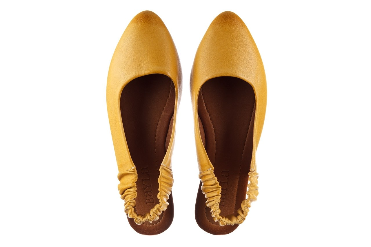 Sandały bayla-161 066 730 353 yellow, żółty, skóra naturalna  - sandały - dla niej  - sale 11