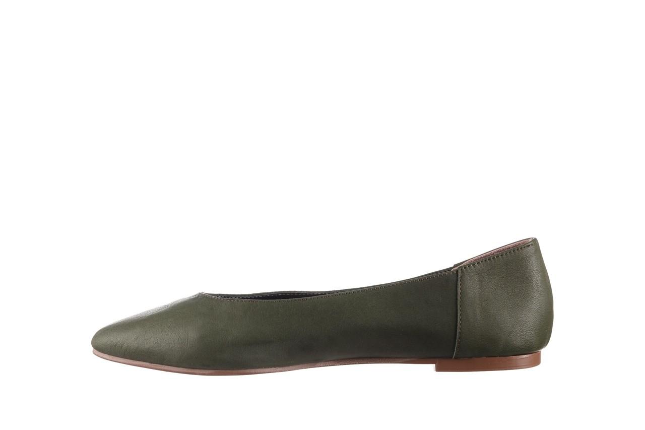 Baleriny bayla-161 093 388 4010 khaki 20, zielony, skóra naturalna - skórzane - baleriny - buty damskie - kobieta 9