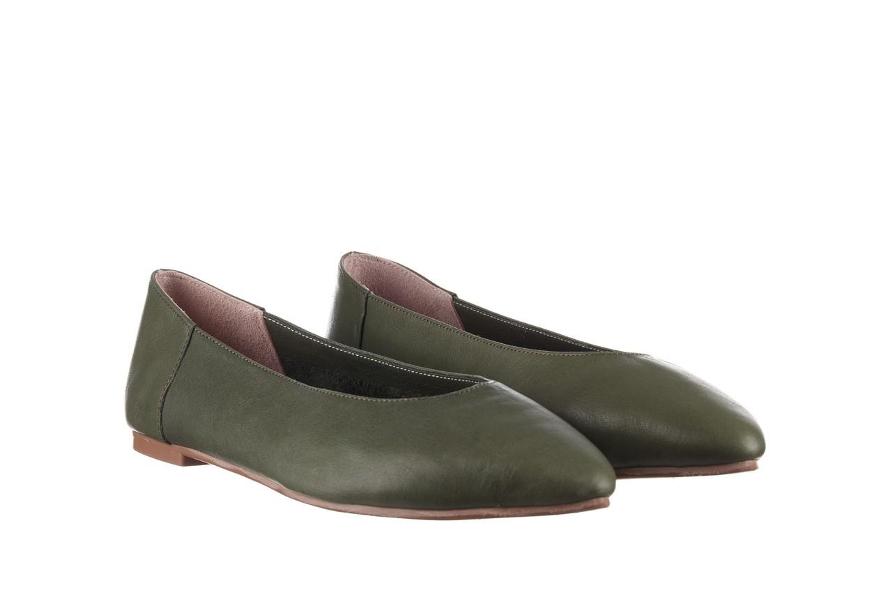 Baleriny bayla-161 093 388 4010 khaki 20, zielony, skóra naturalna - skórzane - baleriny - buty damskie - kobieta 8