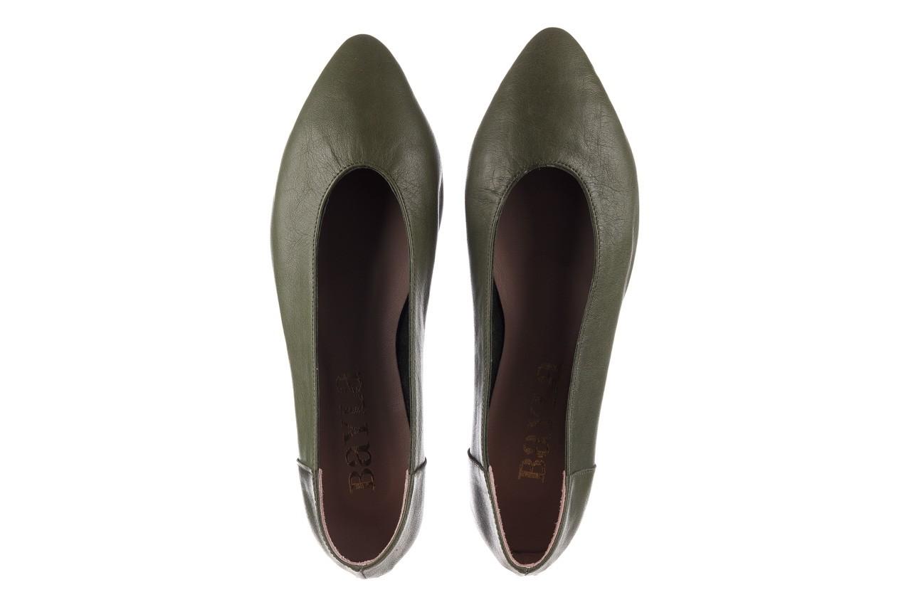 Baleriny bayla-161 093 388 4010 khaki 20, zielony, skóra naturalna - skórzane - baleriny - buty damskie - kobieta 11