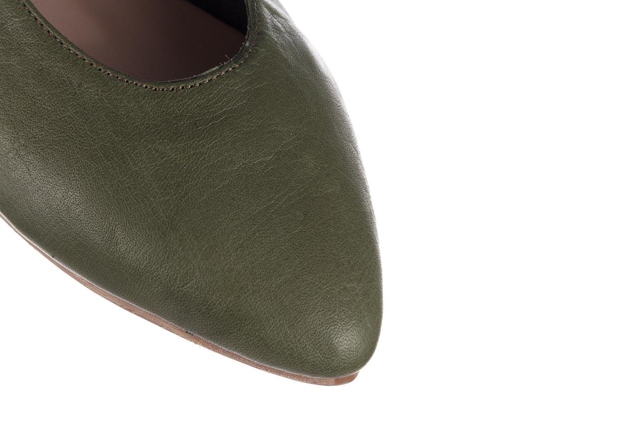 Baleriny bayla-161 093 388 4010 khaki 20, zielony, skóra naturalna - skórzane - baleriny - buty damskie - kobieta 12