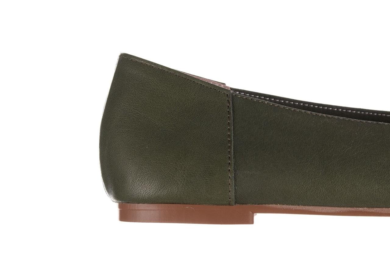 Baleriny bayla-161 093 388 4010 khaki 20, zielony, skóra naturalna - skórzane - baleriny - buty damskie - kobieta 13