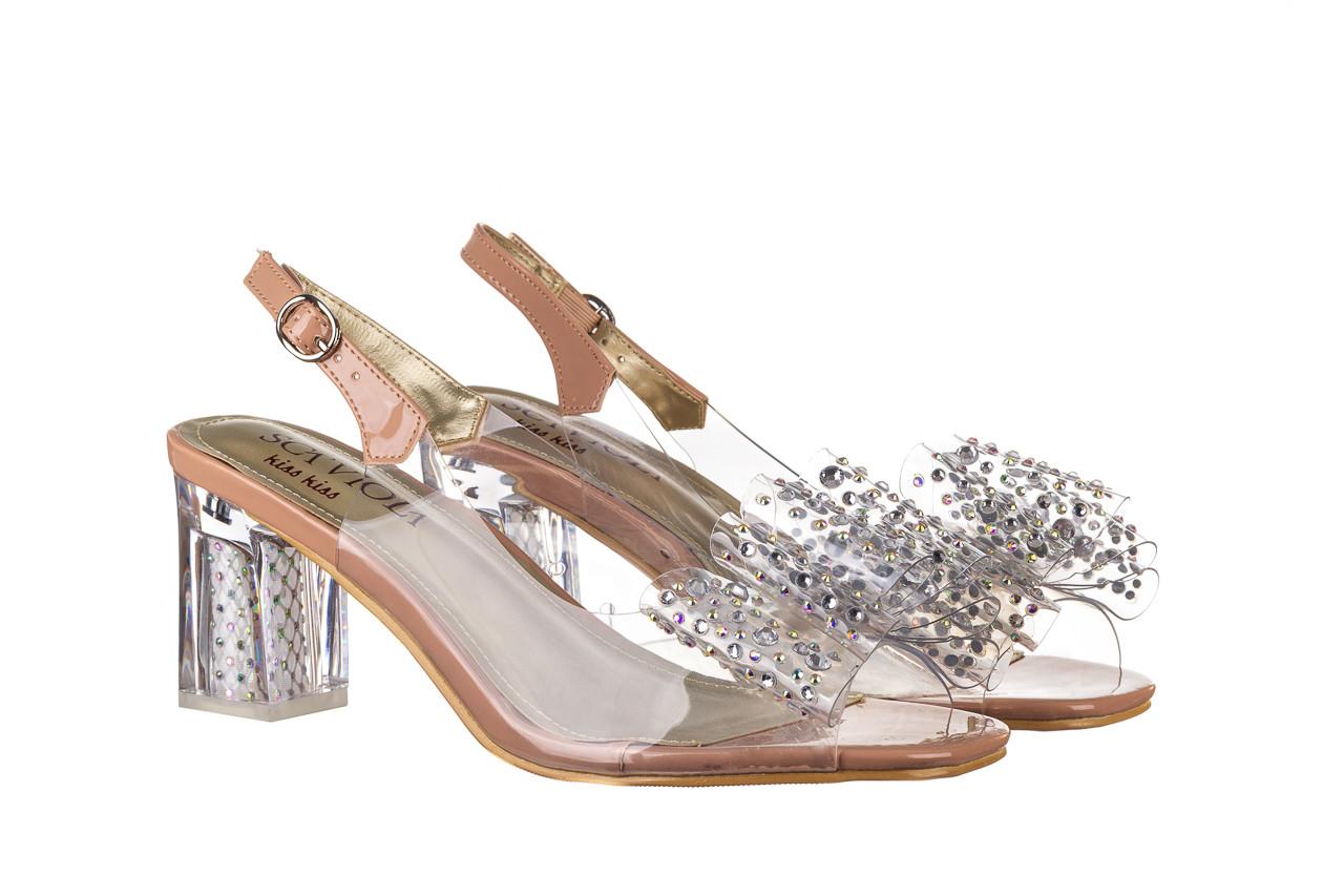 Sandały sca'viola g-60 l. pink 047175, róż, silikon - nowości 8