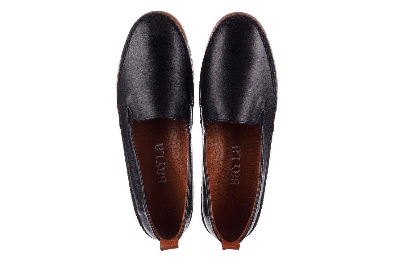 Półbuty bayla-161 078 14305 5 black, czarny, skóra naturalna  - półbuty - buty damskie - kobieta 12