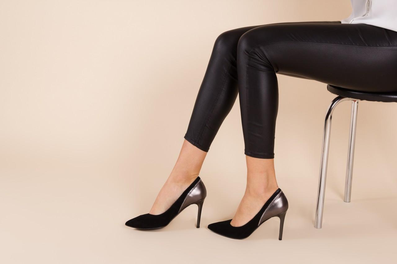 Szpilki bayla-097 17 czarne szpilki, skóra naturalna  - zamszowe - szpilki - buty damskie - kobieta 9