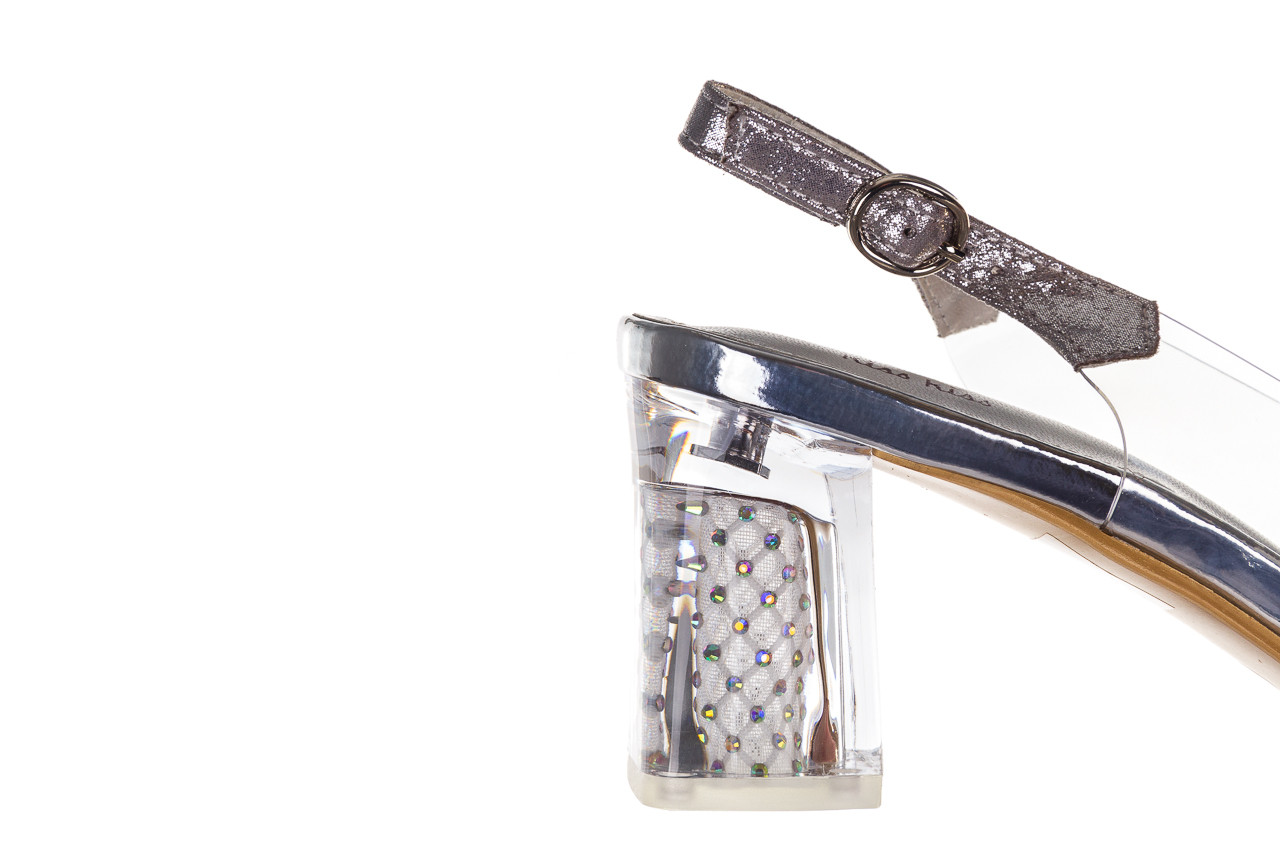 Sandały sca'viola g-60 silver 047176, srebro, silikon 14