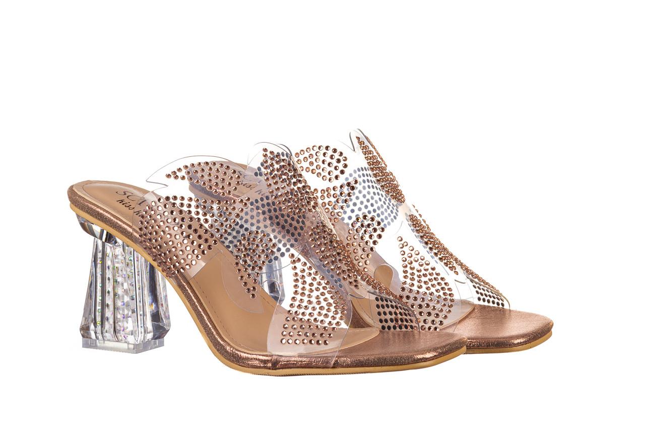 Klapki sca'viola g-57 gold 047173, złoty, silikon - klapki - buty damskie - kobieta 10