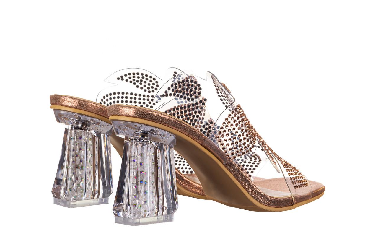 Klapki sca'viola g-57 gold 047173, złoty, silikon - klapki - buty damskie - kobieta 12
