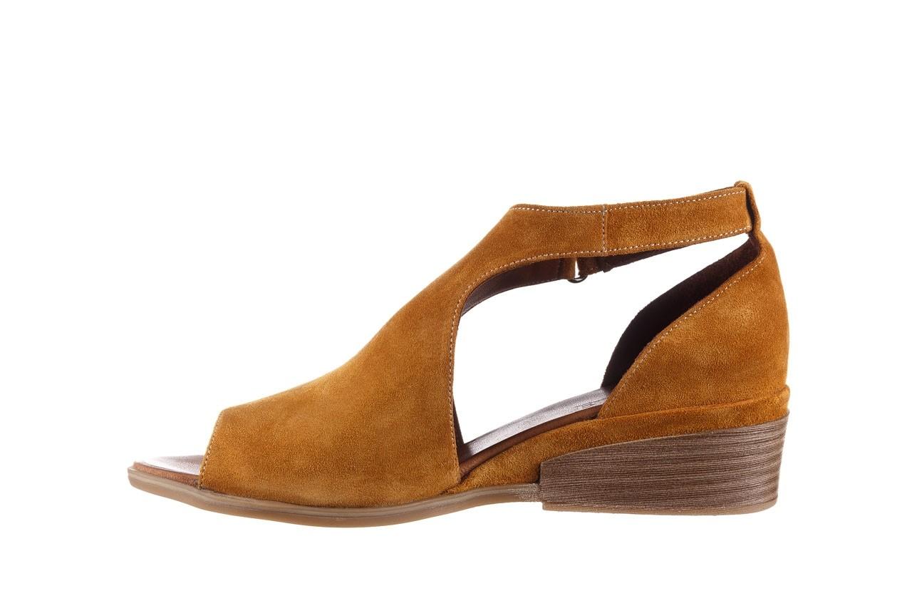 Sandały bayla-161 061 1612 noce suede, żółty, skóra naturalna  - sandały - buty damskie - kobieta 10