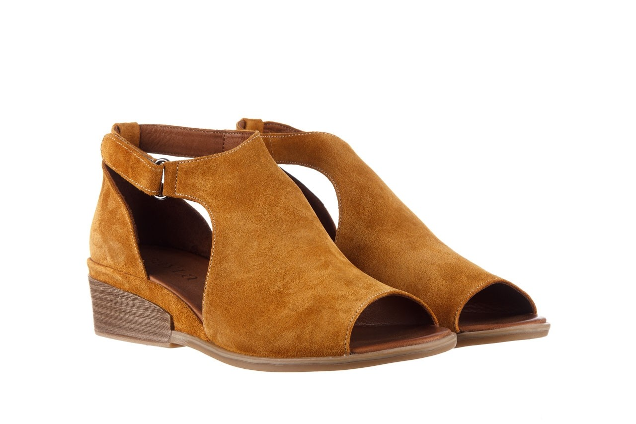 Sandały bayla-161 061 1612 noce suede, żółty, skóra naturalna  - sandały - buty damskie - kobieta 9