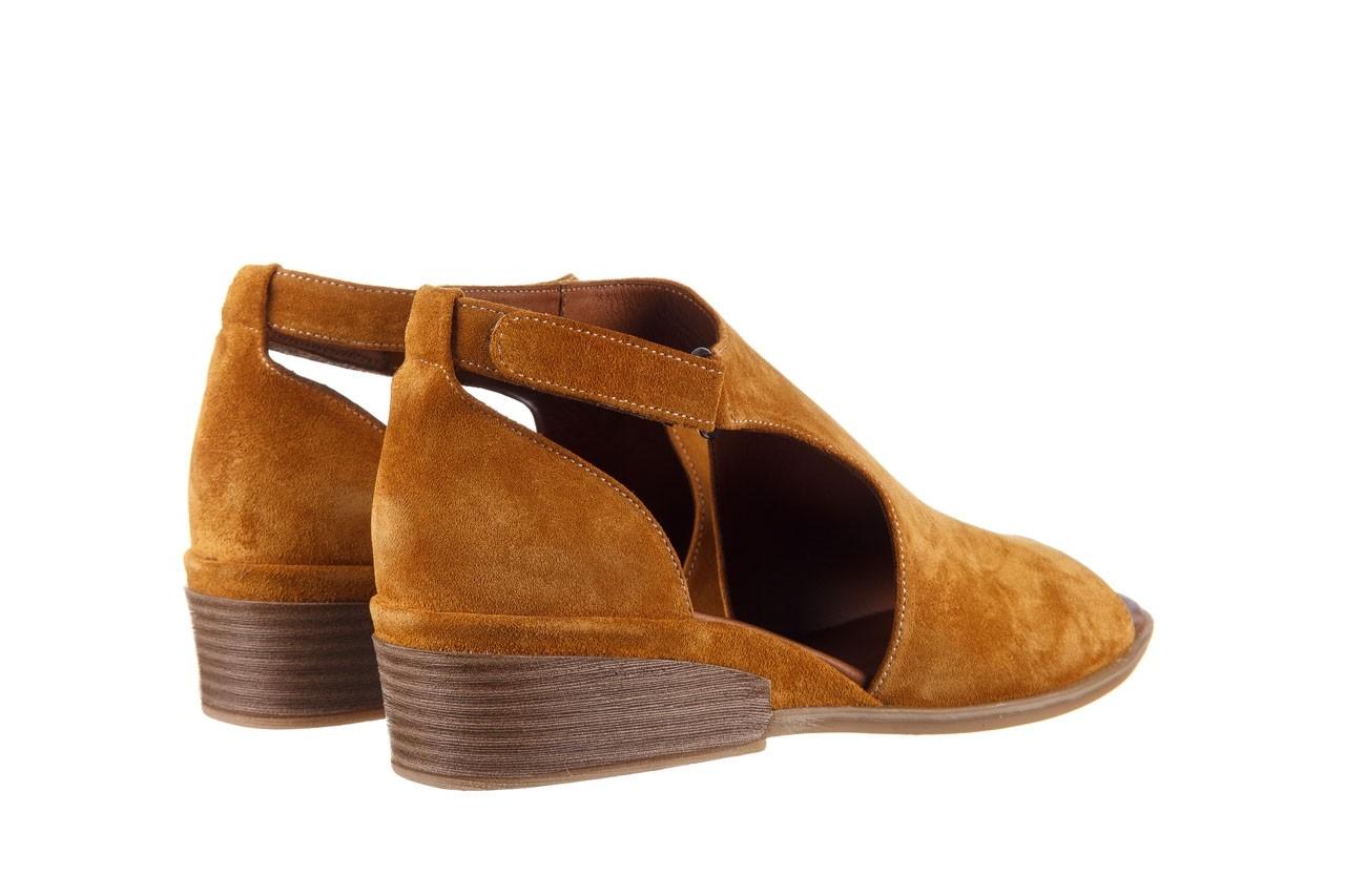 Sandały bayla-161 061 1612 noce suede, żółty, skóra naturalna  - sandały - buty damskie - kobieta 11