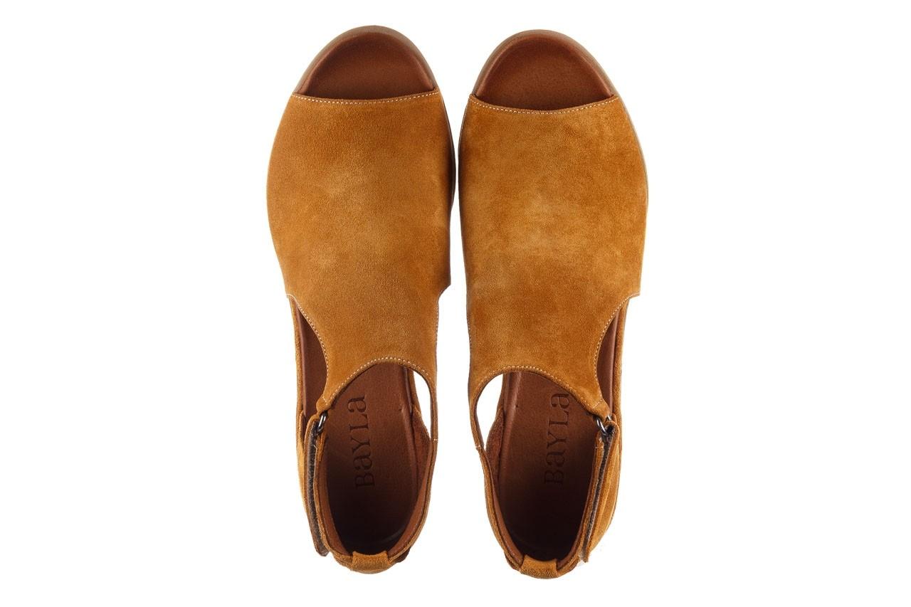 Sandały bayla-161 061 1612 noce suede, żółty, skóra naturalna  - sandały - buty damskie - kobieta 12
