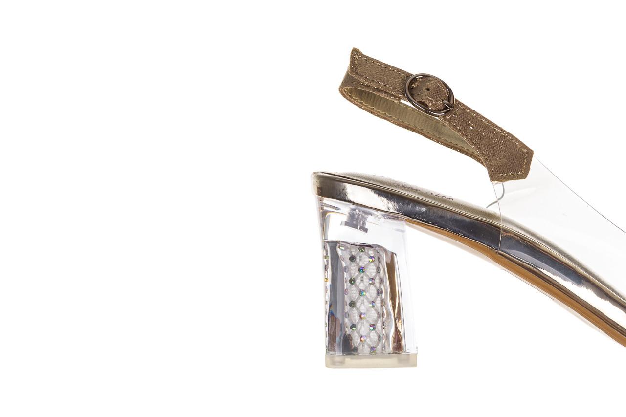 Sandały sca'viola g-60 gold 047174, złoty, silikon 15