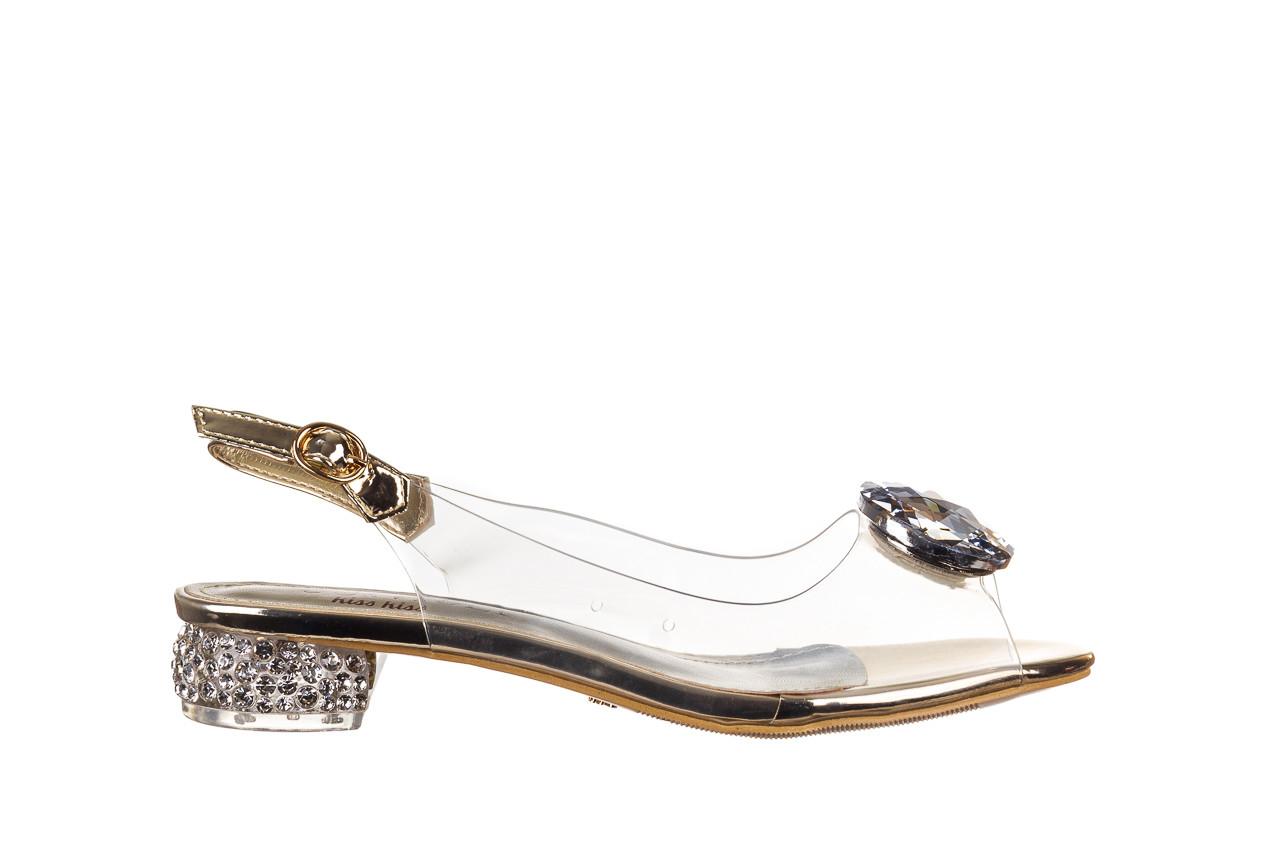 Sandały sca'viola g-15 gold 047168, złoty, silikon - nowości 8